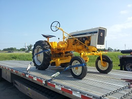 Cub Tractor being shipped across country